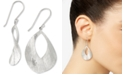 Simone I. Smith Twisted Oval Disc Drop Earrings in Sterling Silver