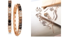 Le Vian Chocolate Layer Cake™ Blackberry Diamonds®, Chocolate Diamonds® & Nude Diamonds™ Hoop Earrings (1-5/8 ct. t.w.) in 14k Rose Gold
