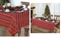 """Elrene Shimmering Plaid 60"""" x 144"""" Tablecloth"""