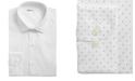 Bar III Men's Classic/Regular-Fit Stretch White/Navy Polka Dot Dress Shirt, Created for Macy's