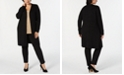 JM Collection Plus Size Lace-Up-Cuff Duster Cardigan, Created for Macy's