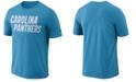 Nike Men's Carolina Panthers Dri-FIT Cotton Essential Wordmark T-Shirt