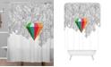 Deny Designs Iveta Abolina Gray Pastel Feathers Shower Curtain