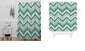 Deny Designs Heather Dutton Weathered Chevron Shower Curtain