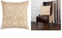 """Rizzy Home 22"""" x 22"""" Damask Poly Filled Pillow"""