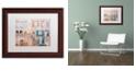 "Trademark Global Cora Niele 'Facade II' Matted Framed Art, 11"" x 14"""