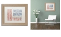 "Trademark Global Cora Niele 'Little Windows I' Matted Framed Art, 11"" x 14"""
