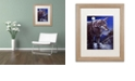"""Trademark Global Jenny Newland 'Lonely One' Matted Framed Art, 16"""" x 20"""""""