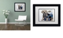 "Trademark Global Jenny Newland 'Puppy Tails' Matted Framed Art, 11"" x 14"""