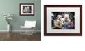 "Trademark Global Jenny Newland 'Lovable Westies' Matted Framed Art, 16"" x 20"""