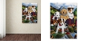 "Trademark Global Jenny Newland 'Choo Choo Puppies' Canvas Art, 24"" x 32"""