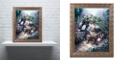 "Trademark Global Jenny Newland 'Gardening Puppies' Ornate Framed Art, 11"" x 14"""