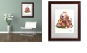 "Trademark Global Jenny Newland 'Queen Of Hearts' Matted Framed Art, 16"" x 20"""