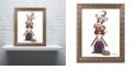 """Trademark Global Jenny Newland 'Joker 1' Ornate Framed Art, 11"""" x 14"""""""