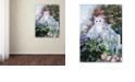 "Trademark Global Jenny Newland 'Kittens In The Master's Garden ' Canvas Art, 14"" x 19"""