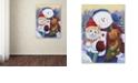 "Trademark Global Jenny Newland 'Winter Wonder Pals' Canvas Art, 14"" x 19"""