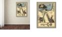 "Trademark Global Nick Bantock 'Egypt Map' Canvas Art, 14"" x 19"""