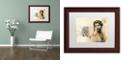 "Trademark Global Nick Bantock 'Ronda Maur' Matted Framed Art, 11"" x 14"""