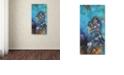"Trademark Global Nick Bantock 'The Green Man' Canvas Art, 12"" x 24"""