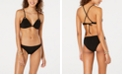 Hula Honey Shimmer Rib Molded Push Up Bikini Top, Available in D/DD & Shimmer Rib Cheeky Hipster Bottoms, Created for Macy's