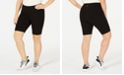 Ideology Plus Size Compression Cycling Shorts, Created for Macy's