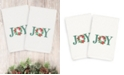 Linum Home CLOSEOUT!  Christmas Joy 100% Turkish Cotton 2-Pc. Hand Towel Set