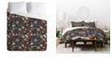 Deny Designs Holli Zollinger Night Blossom Twin Duvet Set