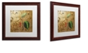 "Trademark Global Color Bakery 'Black Gold Herbs Iii' Matted Framed Art, 16"" x 16"""