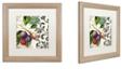 "Trademark Global Color Bakery 'Les Fruits Jardin Iii' Matted Framed Art, 16"" x 16"""