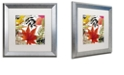 "Trademark Global Color Bakery 'Equinox Ii' Matted Framed Art, 16"" x 16"""