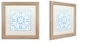 "Trademark Global Color Bakery 'Prima Donna Iii' Matted Framed Art, 16"" x 16"""