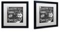 "Trademark Global Color Bakery 'Lake House Iii' Matted Framed Art, 16"" x 16"""