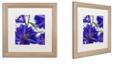 "Trademark Global Color Bakery 'Delphine Ii' Matted Framed Art, 16"" x 16"""