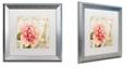 "Trademark Global Color Bakery 'Bonjour One' Matted Framed Art, 16"" x 16"""