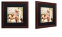 "Trademark Global Color Bakery 'Vermont Summer Iv' Matted Framed Art, 16"" x 16"""