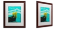 "Trademark Global Color Bakery 'Retro Cities Ii' Matted Framed Art, 16"" x 20"""