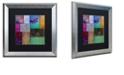 """Trademark Global Color Bakery 'Afrikan Batik I' Matted Framed Art, 16"""" x 16"""""""