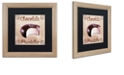 """Trademark Global Color Bakery 'Chocolate Therapy I' Matted Framed Art, 16"""" x 16"""""""