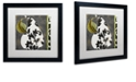 "Trademark Global Color Bakery 'Decorative Pear I' Matted Framed Art, 16"" x 16"""