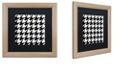 "Trademark Global Color Bakery 'Houndstooth Ii' Matted Framed Art, 16"" x 16"""