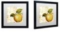 """Trademark Global Color Bakery 'Cafe D?Or I' Matted Framed Art, 16"""" x 16"""""""