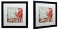 "Trademark Global Color Bakery 'Restaurant Seafood Ii' Matted Framed Art, 16"" x 16"""