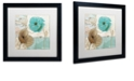 "Trademark Global Color Bakery 'Beach Poppies Iv' Matted Framed Art, 16"" x 16"""