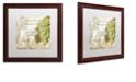 "Trademark Global Color Bakery 'Grand Vin Chardonnay' Matted Framed Art, 16"" x 16"""