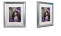 """Trademark Global Color Bakery 'Art Nouveau Zodiac Taurus' Matted Framed Art, 16"""" x 20"""""""