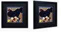 "Trademark Global Color Bakery 'Poulets I' Matted Framed Art, 16"" x 16"""