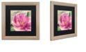 """Trademark Global Color Bakery 'Pink Magnolia I' Matted Framed Art, 16"""" x 16"""""""