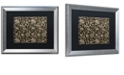 "Trademark Global Color Bakery 'Toile Fabrics Viii' Matted Framed Art, 16"" x 20"""