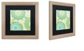 "Trademark Global Color Bakery 'Hope I' Matted Framed Art, 16"" x 16"""