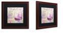 """Trademark Global Color Bakery 'Cocktail Quartet Iv' Matted Framed Art, 16"""" x 16"""""""